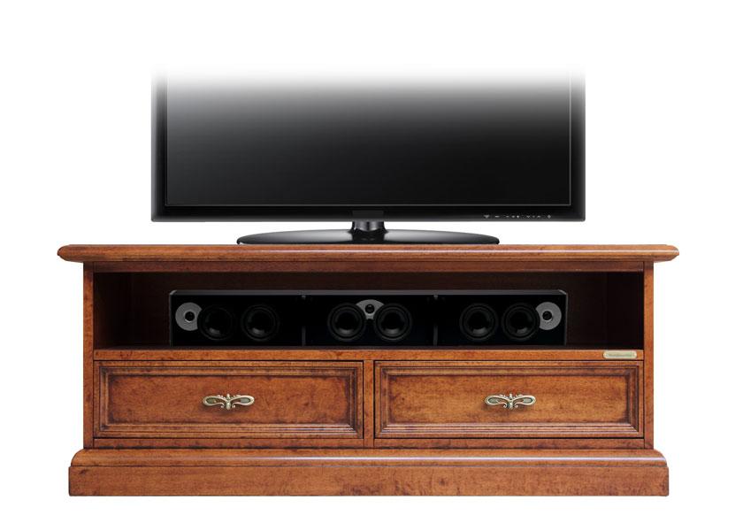 meuble tv barre de son 2 tiroirs classique lamaisonplus. Black Bedroom Furniture Sets. Home Design Ideas