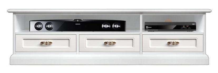 meuble tv bas barre de son 3 tiroirs lamaisonplus. Black Bedroom Furniture Sets. Home Design Ideas