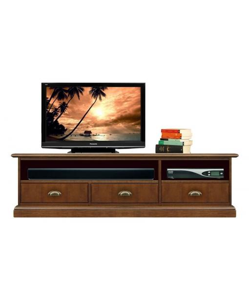 Meuble tv barre de son 3 tiroirs lamaisonplus - Meuble tv avec barre de son integree ...