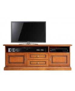 meuble tv barre de son, meuble tv classique, meuble tv en bois, meuble tv de style, ameublement classique