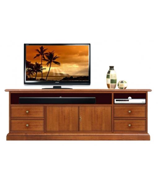 Meuble tv barre de son 160 cm largeur lamaisonplus - Meuble tv avec barre de son integree ...
