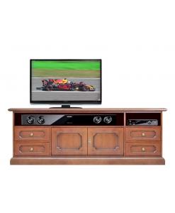 meuble tv, meuble tv en bois, meuble de style classique, meuble tv classique, ameublement pour le salon, ameublement de style pour la maison