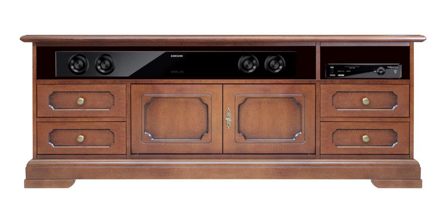 meuble tv optimis pour la barre de son. Black Bedroom Furniture Sets. Home Design Ideas
