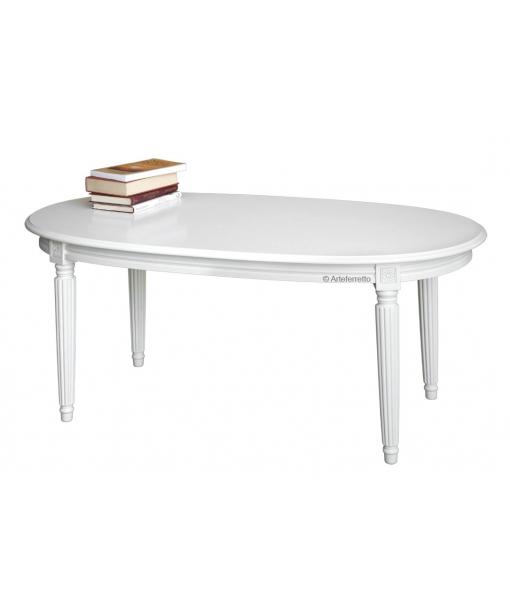 table ovale, table de salon, table de salon ovale, table de salon en bois, Arteferretto