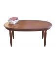 table ovale, table de salon, table de salon ovale, table de salon en bois