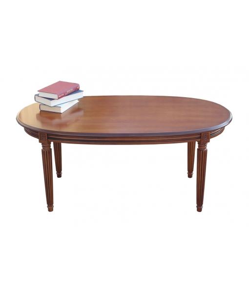 table ovale, table de salon, table de salon ovale, table de salon en bois, Réf. SIM-01