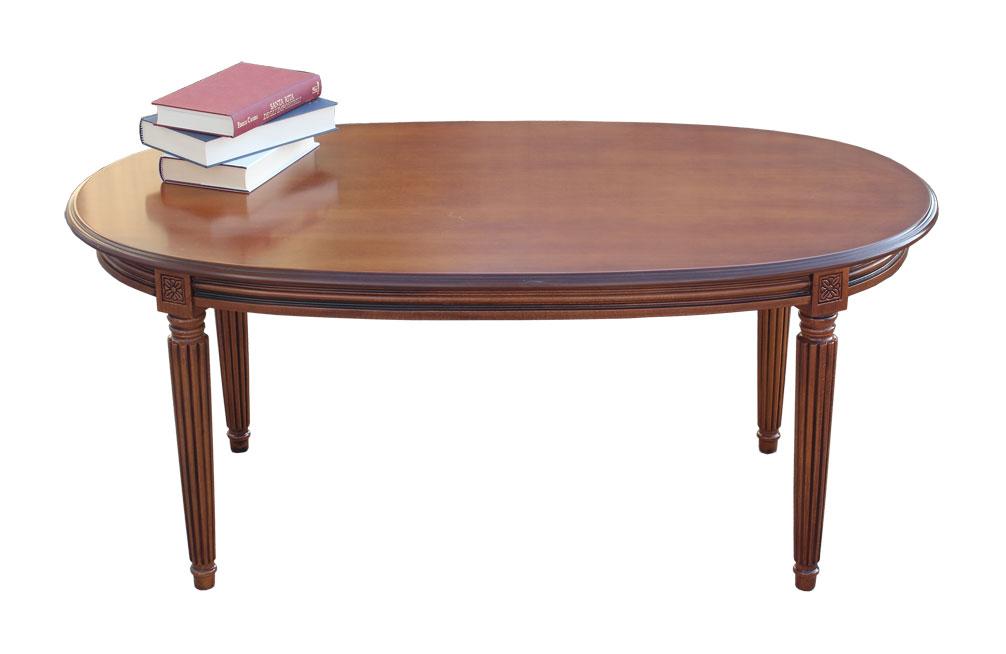 table ovale style empire lamaisonplus. Black Bedroom Furniture Sets. Home Design Ideas
