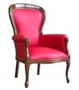 Fauteuil style Louis Philippe, fauteuil en bois de hêtre, fauteuil