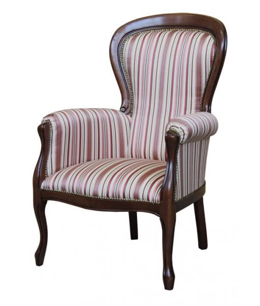 Fauteuil style Louis Philippe, fauteuil en bois de hêtre
