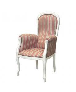 fauteuil voltaire assise haute, fauteuil laqué