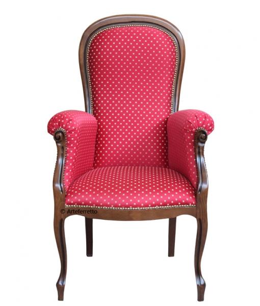 Fauteuil Voltaire assise haute