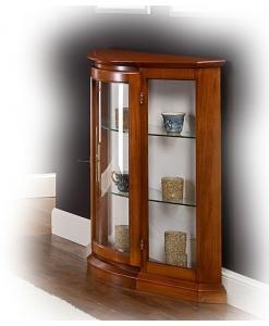 petite vitrine basse, vitrine en bois, vitrine basse, vitrine de style, ameublement classique, ameublement de style pour le salon
