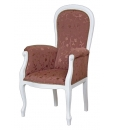 Fauteuil Voltaire, ameublement pour le salon, salon classique, style classique, fauteuil laqué