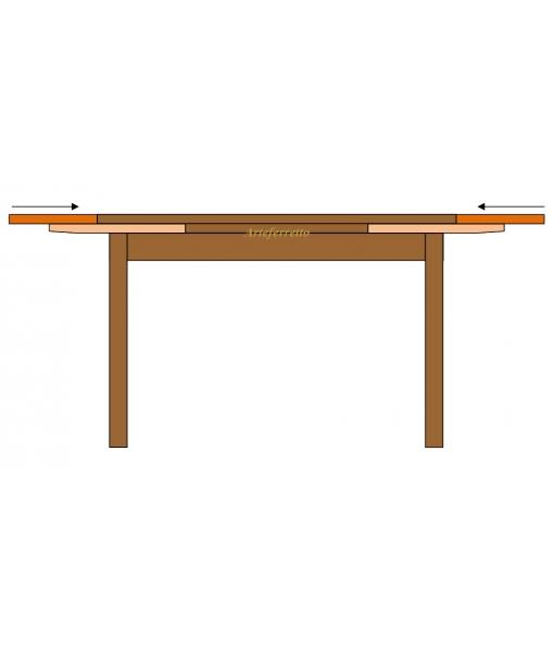 Table rectangulaire extensible 180 280 cm lamaisonplus for Table extensible 280 cm