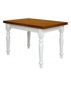 table à manger bicolore, table classique, table en bois