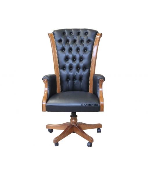 fauteuil de direction en cuir lamaisonplus. Black Bedroom Furniture Sets. Home Design Ideas
