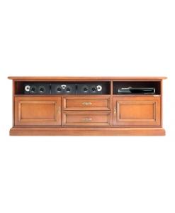 meuble tv barre de son, meuble tv, meuble tv classique, meuble de style, meuble tv en bois