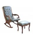 Fauteuil à bascule, fauteuil à bascule en cuir, cuir véritable