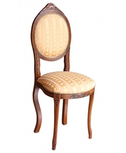 chaise, chaise ovale, chaise classique