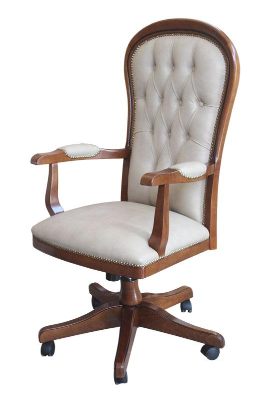 fauteuil pivotant en bois massif de h tre mobilier bureau fauteuil de style ebay. Black Bedroom Furniture Sets. Home Design Ideas