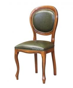 Chaise Louis Philippe en cuir véritable, Arteferretto