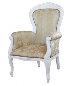 fauteuil, fauteuil blanc, fauteuil confort