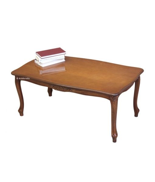 Table basse de salon, table base rectangulaire, table de café pour salon