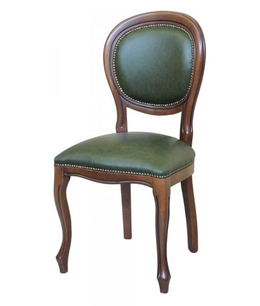 chaise louis philippe en cuir v ritable lamaisonplus. Black Bedroom Furniture Sets. Home Design Ideas