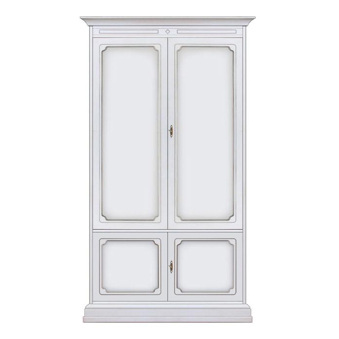 armoire blanche chambre coucher livr mont meuble armoire penderie en bois ebay. Black Bedroom Furniture Sets. Home Design Ideas