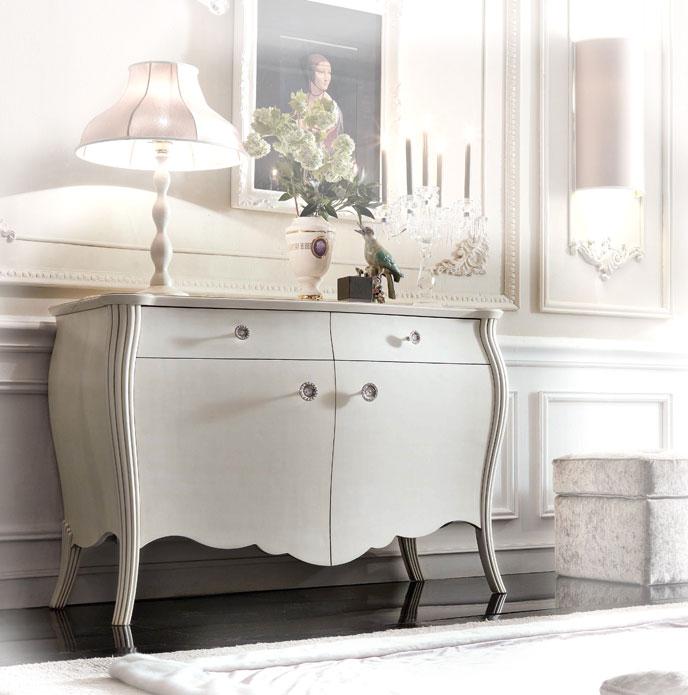 Buffet De Style Classique Laqué Salon élégant Rangement Style
