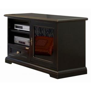 Mobile TV art. 3824-N laccato nero spigolato ciliegio