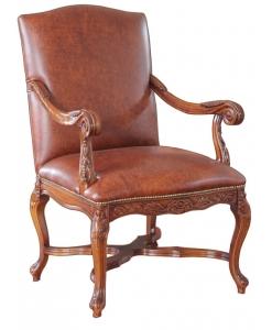Fauteuil classique, fauteuil en cuir véritable