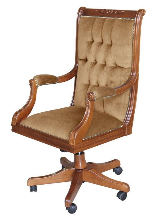 fauteuil de direction bois massif et velours mobilier bureau fauteuil tournant ebay. Black Bedroom Furniture Sets. Home Design Ideas