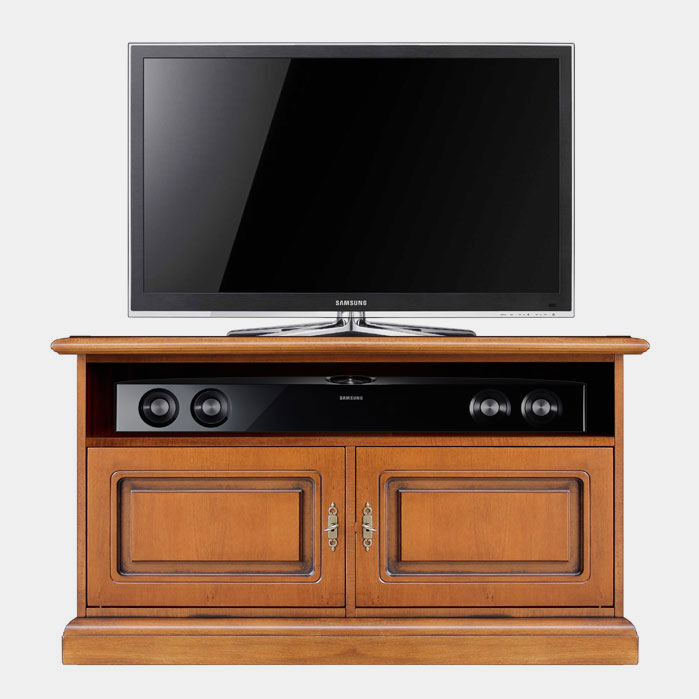 meuble tv 2 portes pour la barre de son banc tv sauve espace ebay. Black Bedroom Furniture Sets. Home Design Ideas