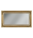 Miroir mural rectangulaire ornements en bois Arteferretto
