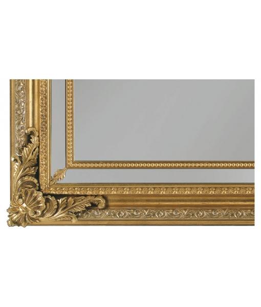 Miroir mural rectangulaire ornements en bois lamaisonplus for Miroir mural rectangulaire bois