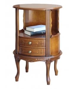 Table d'appoint téléphone ovale 2 tiroirs Arteferretto