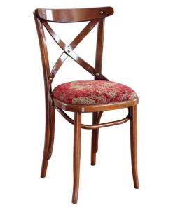 chaise rembourrée, chaise de cuisine, chaise en bois