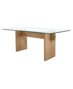 Table en chêne massif, mobilier salle à manger, table design