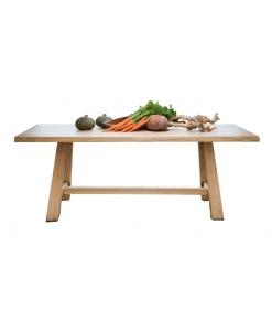 Table de cuisine, chêne massif, table en bois massif