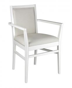 Chaise bout de table, chaise blanche, chaise salle à manger