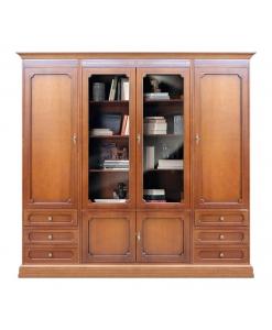Meuble bibliothèque mural, bibliothèque modulaire, meuble bibliothèque, mobilier de rangement