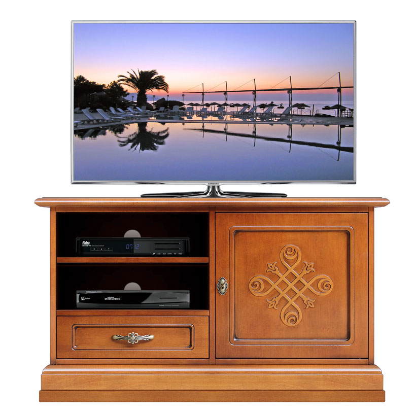 meuble tv artisanal meuble tv sculpt une porte un tiroir petit meuble tv bois ebay. Black Bedroom Furniture Sets. Home Design Ideas