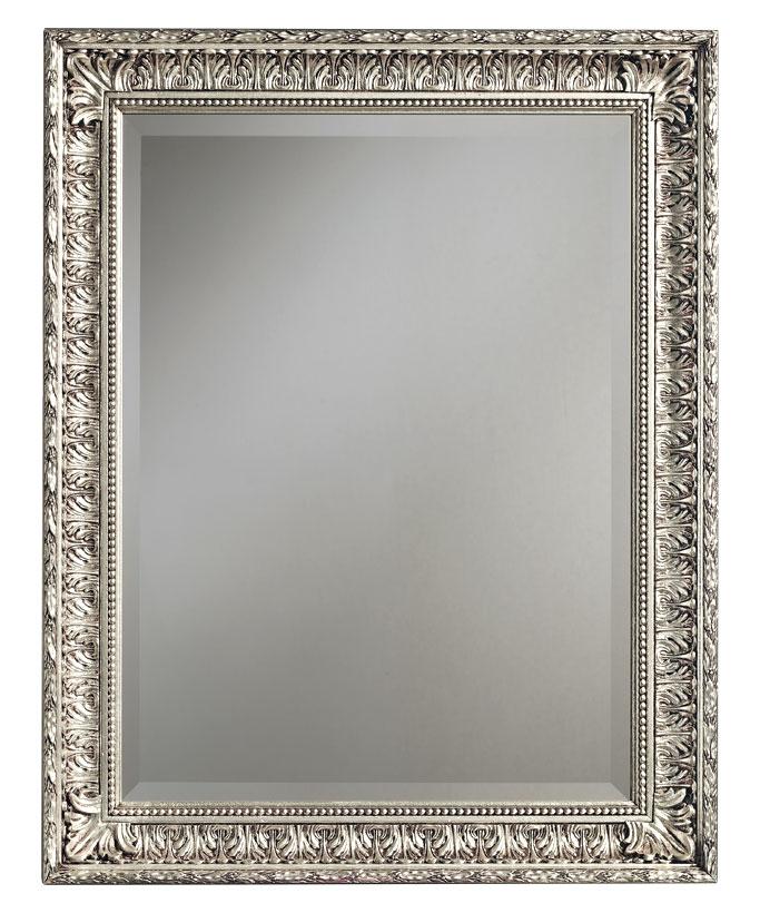 Miroir classique la feuille d 39 or ou d 39 argent lamaisonplus for Miroir d argent