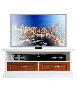 Meuble Tv bas bicolore pour la barre de son Arteferretto
