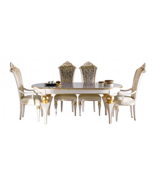 Table ovale 200x100 cm elisabeth lamaisonplus for Miroir 200x100