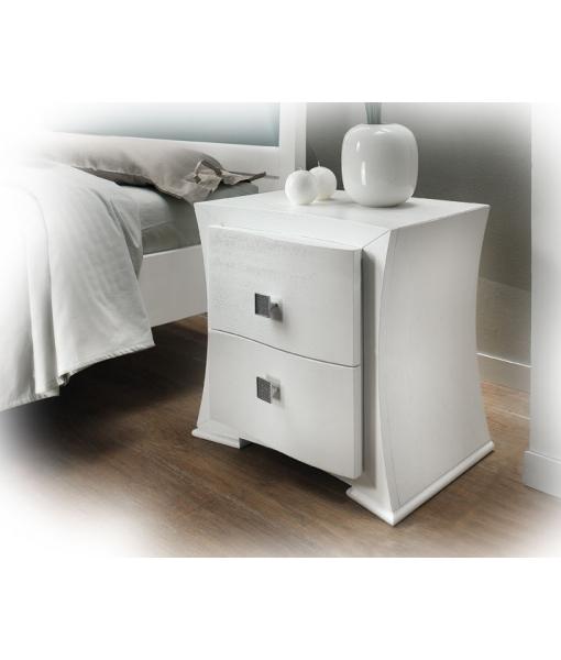 table de nuit, chevet blanc, chambre à coucher