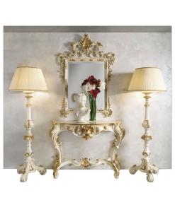 console, miroir, port lampe, mobilier sculpté