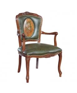 Fauteuil style Louis XV, Fauteuil Parisienne , fauteuil dossier rembourré, fauteuil de salon