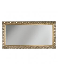 Miroir rectangulaire en bois à la feuille Arteferretto